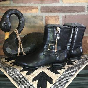 Isaac Mizrahi Live! Black Leather Boots -NWOT